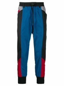 Y-3 colour block track trousers - Black