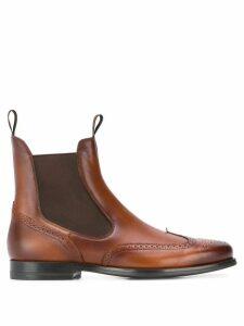 Santoni brogue boots - Brown