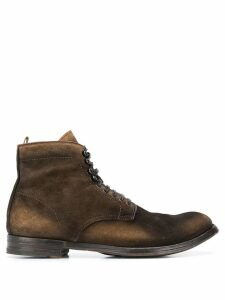 Officine Creative piped leather trim boots - Brown
