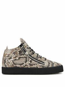 Giuseppe Zanotti snake print sneakers - Brown