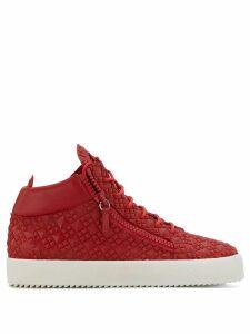 Giuseppe Zanotti Kriss Studs hi-top sneakers - Red