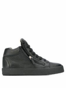 Giuseppe Zanotti Justy zip-up sneakers - Black