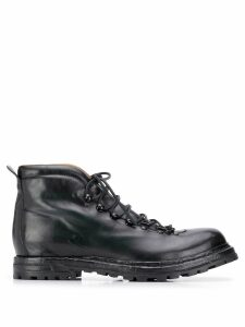 Officine Creative lace-up ankle boots - Black
