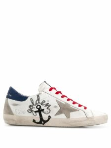 Golden Goose Superstar anchor sneakers - White