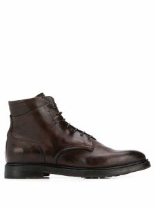 Silvano Sassetti lace-up boots - Brown