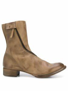 Cherevichkiotvichki asymmetric zipped boots - Brown