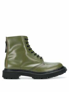 Adieu Paris x Études lace-up boots - Green