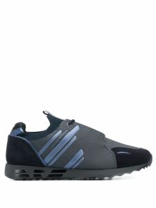 Emporio Armani panelled sneakers - Blue