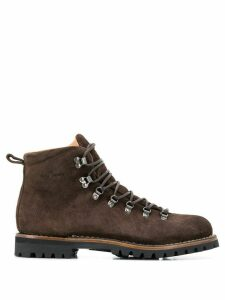 Car Shoe lace-up construction boots - Brown