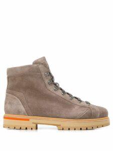 Santoni lace-up ankle boots - Neutrals