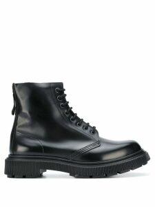 Adieu Paris ridged lace-up boots - Black