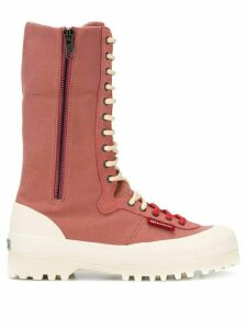 Superga ankle lace-up boots - Pink