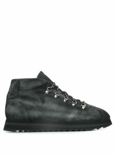 Doucal's ridged-sole lace-up ankle boots - Grey