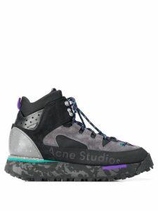 Acne Studios panelled high-top sneakers - Black