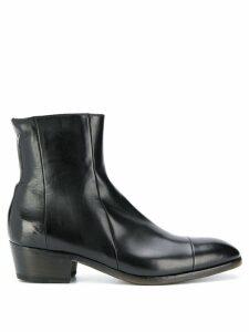 Silvano Sassetti leather ankle boots - Black