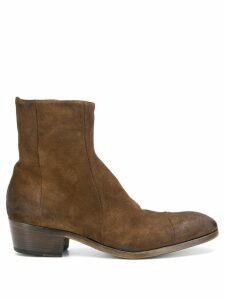 Silvano Sassetti suede ankle boots - Brown