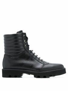 Emporio Armani lace-up boots - Black
