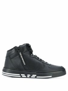 Emporio Armani high-top sneakers - Black