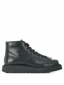 Neil Barrett pierced hiking boots - Black