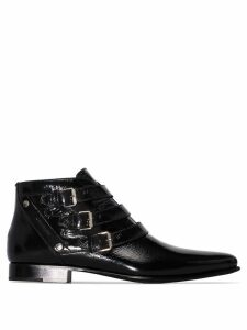 Givenchy Dallas strap pointed boots - Black