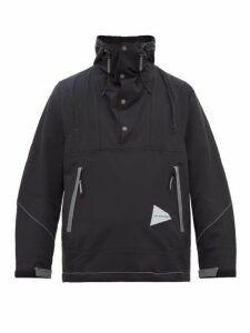 And Wander - Hooded Technical Nylon Blend Jacket - Mens - Black