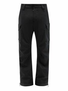 Moncler Grenoble - Cargo Pocket Soft Shell Ski Trousers - Mens - Black
