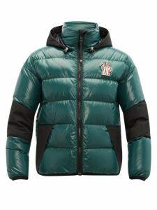 Moncler Grenoble - Gollingher Lacquered Down Filled Ski Jacket - Mens - Dark Green