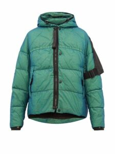 Nemen - Loomit Hooded Quilted Down Jacket - Mens - Blue Multi