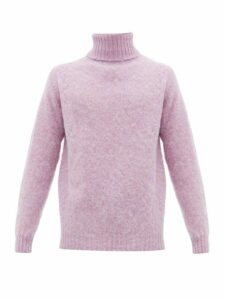 Howlin' - Sylvester Roll Neck Wool Sweater - Mens - Pink