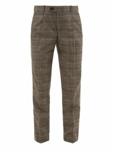 Éditions M.r - Francois Prince Of Wales Check Wool Blend Trousers - Mens - Grey Multi