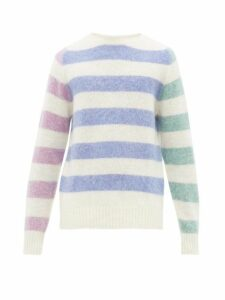 Howlin' - Acid Journey Striped Wool Sweater - Mens - White Multi