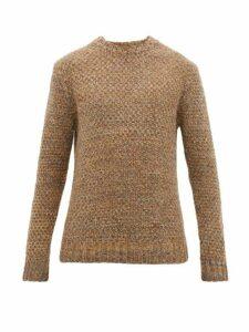 Barena Venezia - Golena Mischio Mélange Wool Blend Sweater - Mens - Khaki