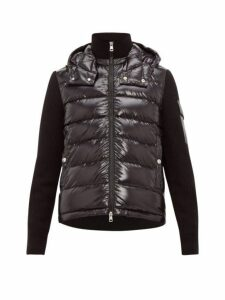 Moncler - Rib Knit Hooded Jacket - Mens - Black