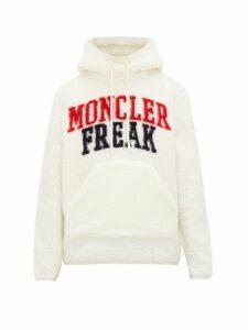 2 Moncler 1952 - Logo Fleece Hooded Sweatshirt - Mens - White