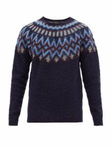 Howlin' - Future Fantasy Virgin Wool Sweater - Mens - Navy Multi