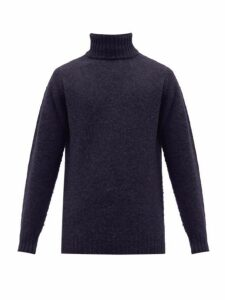 Howlin' - Sylvester Roll Neck Wool Sweater - Mens - Navy