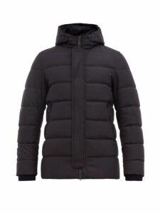 Herno - Clive Felted Wool Blend Hooded Jacket - Mens - Navy