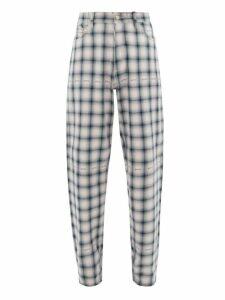 Eytys - Benz Tartan Cotton Trousers - Mens - Black Multi