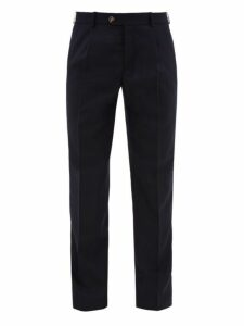 Éditions M.r - Francois Single Pleat Wool Tapered Trousers - Mens - Navy