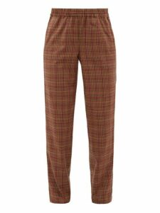 Éditions M.r - Jean Francois Gingham Wool Blend Tapered Trousers - Mens - Multi