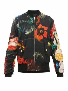 Paul Smith - Floral Print Reversible Bomber Jacket - Mens - Black Multi