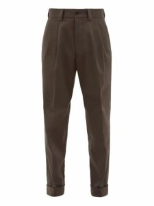 Margaret Howell - Pleated Tapered Cotton Trousers - Mens - Grey