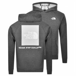 The North Face Redbox Logo Hoodie Grey