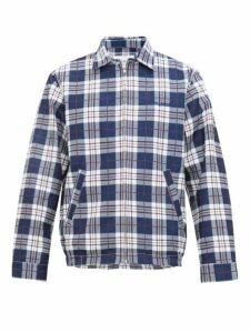Noon Goons - Picture Perfect Checked Technical Jacket - Mens - Blue White