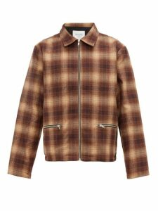 Noon Goons - Anderson Checked Flannel Jacket - Mens - Brown