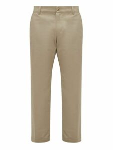 Noon Goons - Club Cotton Straight Fit Trousers - Mens - Khaki