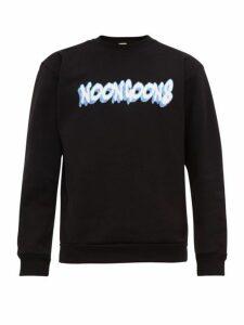 Noon Goons - Logo Print Cotton Jersey Sweatshirt - Mens - Black