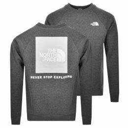 The North Face Raglan Redbox Sweatshirt Grey