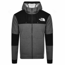 The North Face Himalayan Full Zip Hoodie Grey
