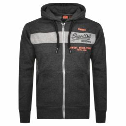 Superdry Orange Label Full Zip Magma Hoodie Black